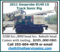 2011 GEOPROBE 8140 LS TRACK SONIC RIG