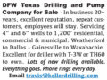 DFW TEXAS DRILLING AND PUMP COMPANY FOR SALE