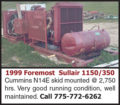 1999 FOREMOST SULLAIR 1150/350