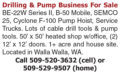 DRILLING & PUMP BUSINESS FOR SALE - WALLA WALLA, WA