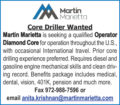 CORE DRILLER WANTED