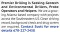 SEEKING GEOTECH & ENVIRONMENTAL DRILLERS, PROBE OPERATORS & HELPERS
