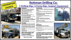 7 DRILLING RIGS, 4 PUMP RIGS, SUPPORT EQUIPMENT