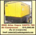 2000 ATLAS COPCO XASTS 760 AIR COMPRESSOR