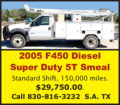 2005 F450 DIESEL SUPER DUTY 5T SMEAL