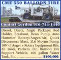 CME 550 BALLOON TIRE