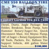 CME 550 BALLOON TIRE