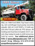1989 SIMCO 5000 MTD. ON 1989 FORD 8000