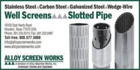 WELL SCREENS & SLOTTED PIPE