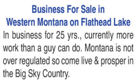 BUSINESS FOR SALE - WESTERN MONTANA