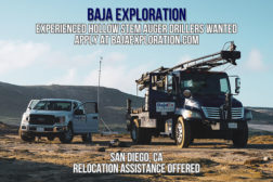 BAJA EXPLORATION - EXPERIENCED HOLLOW STEM AUGER DRILLERS WANTED