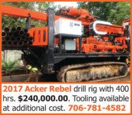 2017 ACKER REBEL DRILL RIG