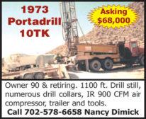 Owner Retiring! 1973 PORTADRILL 10TK