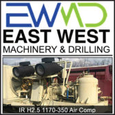 IR H2.5 1170-350 AIR COMPRESSOR - EAST WEST MACHINERY & DRILLING
