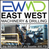 """JOY WB 12X5-1/2"""" AIR BOOSTER 600 PSI - EAST WEST MACHINERY`"""
