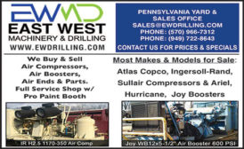 EAST WEST MACHINERY & DRILLING COMPRESSORS