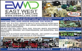 WE BUY & SELL DRILL RIGS, PIPE, TOOLING, PARTS, EQUIPMENT, MUD PUMPS, ENGINES, AIR COMPRESSORS, AIR BOOSTERS, & GENSETS
