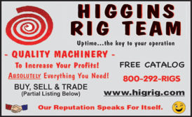 HIGGINS RIG TEAM - RIGS, PUMP HOISTS & CABLE TOOL