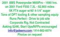 2001 AMS POWERPROBE 9600PRO