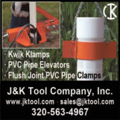 KWIK KLAMPS, PVC PIPE ELEVATORS & FLUSH JOINT PVC PIPE CLAMPS