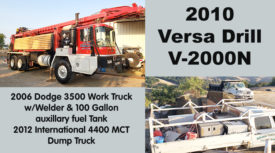 DRILLING EQUIPMENT FOR SALE - CALIFORNIA