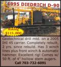 1995 DIEDRICH D-90 GEOTECHNICAL DRILL
