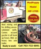 MUDPUPPY MODEL MP-170S MUD MIXING UNIT