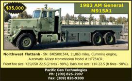 1983 AM GENERAL M915A1 NORTHWEST FLATTANK