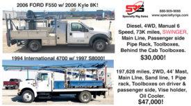 FORD F550 W/KYLE 8K & INTERNATIONAL 4700 W/ S8000!