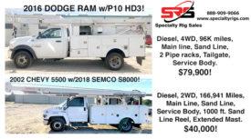 2016 DODGE RAM W/P10 HD3 & 2002 CHEVY 5500 W/ 2018 SEMCO S8000