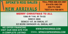 SPIKE'S RIG SALES NEW ARRIVALS - DECEMBER 2020