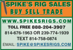 SPIKE'S RIG SALES BUY SELL TRADE