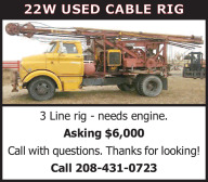 22W USED CABLE RIG