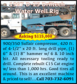 1997 D-25 DRILTECH WATER WELL RIG
