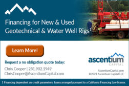 FINANCING - NEW & USED GEOTECHNICAL & WATER WELL RIGS