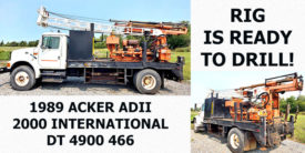1989 ACKER AD 11 MOUNTED ON INT'L DT4900 466
