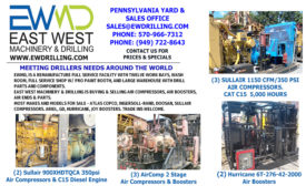 EAST WEST MACHINERY & DRILLING IS BUYING AND SELLING AIR COMPRESSORS, AIR BOOSTERS, AIR ENDS & PARTS