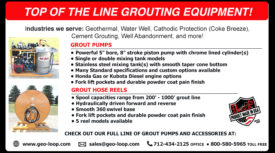 GROUTING EQUIPMENT - GROUT PUMPS & GROUT HOSE REELS