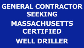 MASSACHUSETTS CERTIFIED WELL DRILLER