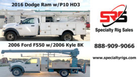 2016 DODGE RAM W/P10 HD3 & 2006 FORD F550 W/2006 KYLE 8K