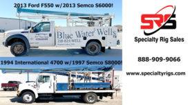 2013 FORD F550 W/2013 SEMCO S6000! & 1994 INTERNATIONAL 4700 W/1997 SEMCO S8000!