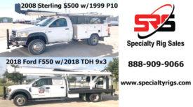 2008 STERLING 5500 W/1999 P10! & 2018 FORD F550 W/ 2018 TDH 9X3!