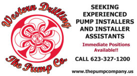 SEEKING EXPERIENCED PUMP INSTALLERS AND INSTALLER ASSISTANTS