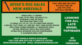 SPIKE'S RIG SALES NEW ARRIVALS - JULY 2021