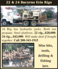 BUCYRUS ERIE RIGS - 22 RIG & 24 RIG