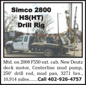 SIMCO 2800 HS (HT) DRILL RIG MTD. ON 2008 F550