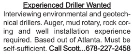 Experienced Driller Wanted