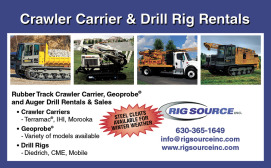 CRAWLER CARRIERS, GEOPROBE®, and AUGER DRILL RIG RENTALS & SALES