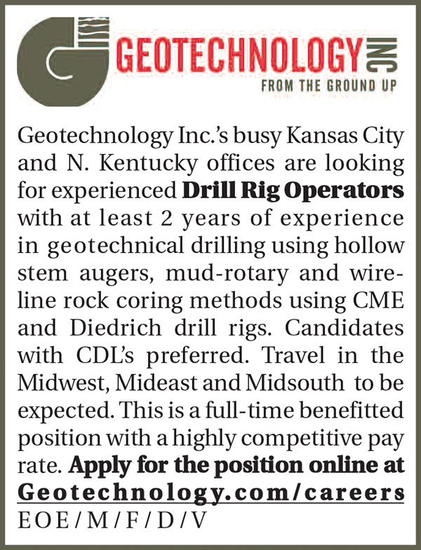 EXPERIENCED DRILL RIG OPERATORS