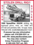 STOLEN 1990 SPEEDSTAR SS25K DRILL RIG!!!
